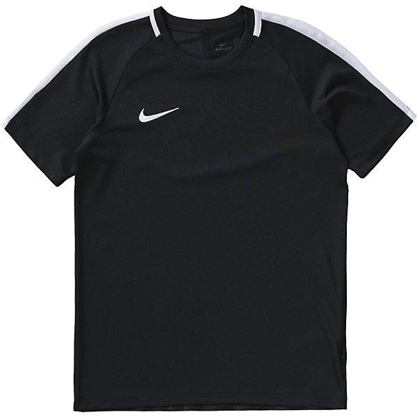 Футболка NIKEСпортивная форма<br>Характеристики товара:<br><br>• цвет: черный<br>• состав ткани: 100% полиэстер<br>• сезон: лето<br>• особенности модели: спортивный стиль<br>• технология: Dri-FIT<br>• короткие рукава<br>• страна бренда: США<br>• страна изготовитель: Китай<br><br>Черная футболка Найк дополнена сетчатыми ставками на рукавах. Спортивная футболка Nike отличается стильным и продуманным дизайном. Такая футболка от Nike может выступать в роли тренировочной одежды. Эта модель детской футболки поможет обеспечить ребенку комфорт. <br><br>Футболку Nike (Найк) можно купить в нашем интернет-магазине.<br><br>Ширина мм: 334<br>Глубина мм: 238<br>Высота мм: 48<br>Вес г: 94<br>Цвет: черный<br>Возраст от месяцев: 72<br>Возраст до месяцев: 96<br>Пол: Мужской<br>Возраст: Детский<br>Размер: 116/128,158/170,152/158,140/152,128/140<br>SKU: 6921192
