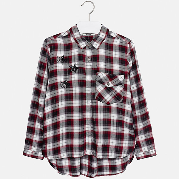Рубашка Mayoral для девочкиБлузки и рубашки<br>Характеристики товара:<br><br>• цвет: красный<br>• состав ткани: 100% вискоза<br>• длинные рукава<br>• сезон: круглый год<br>• застежка: пуговицы<br>• страна бренда: Испания<br>• страна изготовитель: Индия<br><br>Клетчатая блузка Mayoral обеспечит ребенку комфорт и сделает наряд оригинальным. Детская блузка для девочки от Майорал - одна из самых модных вещей наступающего сезона.<br><br>Детская одежда от испанской компании Mayoral отличаются оригинальным и всегда стильным дизайном. Качество продукции неизменно очень высокое.<br><br>Блузку для девочки Mayoral (Майорал) можно купить в нашем интернет-магазине.<br>Ширина мм: 186; Глубина мм: 87; Высота мм: 198; Вес г: 197; Цвет: красный; Возраст от месяцев: 156; Возраст до месяцев: 168; Пол: Женский; Возраст: Детский; Размер: 164,170,158,152,140,128/134; SKU: 6921690;