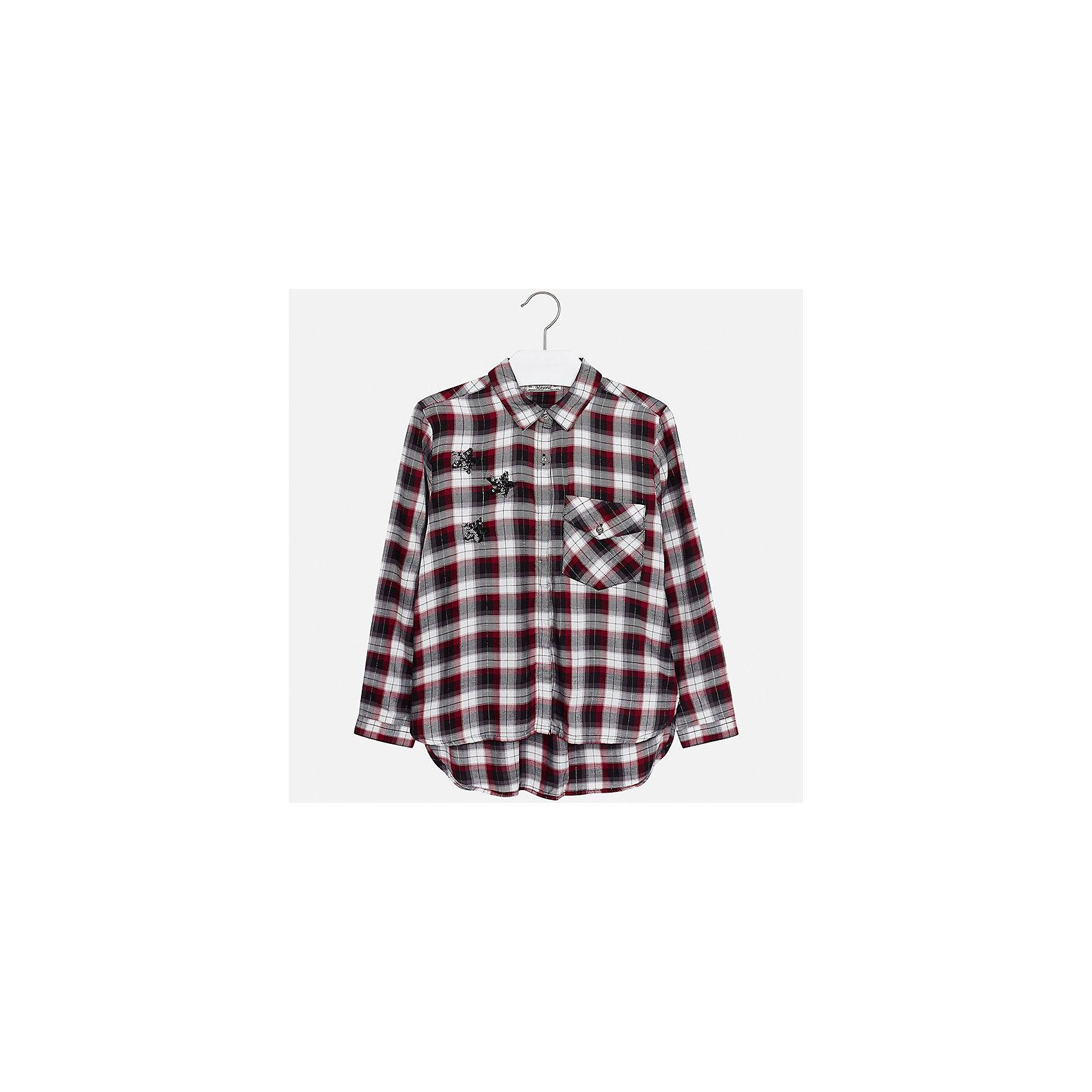 Рубашка Mayoral для девочкиБлузки и рубашки<br>Характеристики товара:<br><br>• цвет: красный<br>• состав ткани: 100% вискоза<br>• длинные рукава<br>• сезон: круглый год<br>• застежка: пуговицы<br>• страна бренда: Испания<br>• страна изготовитель: Индия<br><br>Клетчатая блузка Mayoral обеспечит ребенку комфорт и сделает наряд оригинальным. Детская блузка для девочки от Майорал - одна из самых модных вещей наступающего сезона.<br><br>Детская одежда от испанской компании Mayoral отличаются оригинальным и всегда стильным дизайном. Качество продукции неизменно очень высокое.<br><br>Блузку для девочки Mayoral (Майорал) можно купить в нашем интернет-магазине.<br><br>Ширина мм: 186<br>Глубина мм: 87<br>Высота мм: 198<br>Вес г: 197<br>Цвет: красный<br>Возраст от месяцев: 168<br>Возраст до месяцев: 180<br>Пол: Женский<br>Возраст: Детский<br>Размер: 170,128/134,140,152,158,164<br>SKU: 6921690