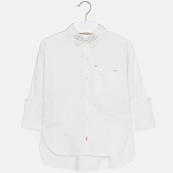 Рубашка Mayoral для девочкиБлузки и рубашки<br>Характеристики товара:<br><br>• цвет: бежевый<br>• состав ткани: 100% хлопок<br>• длинные рукава<br>• сезон: круглый год<br>• застежка: пуговицы<br>• страна бренда: Испания<br>• страна изготовитель: Индия<br><br>Бежевая блузка Mayoral обеспечит ребенку комфорт и сделает наряд оригинальным. Детская блузка для девочки от Майорал - одна из самых модных вещей наступающего сезона.<br><br>Детская одежда от испанской компании Mayoral отличаются оригинальным и всегда стильным дизайном. Качество продукции неизменно очень высокое.<br><br>Блузку для девочки Mayoral (Майорал) можно купить в нашем интернет-магазине.<br>Ширина мм: 186; Глубина мм: 87; Высота мм: 198; Вес г: 197; Цвет: бежевый; Возраст от месяцев: 96; Возраст до месяцев: 108; Пол: Женский; Возраст: Детский; Размер: 128/134,170,164,158,152,140; SKU: 6921711;
