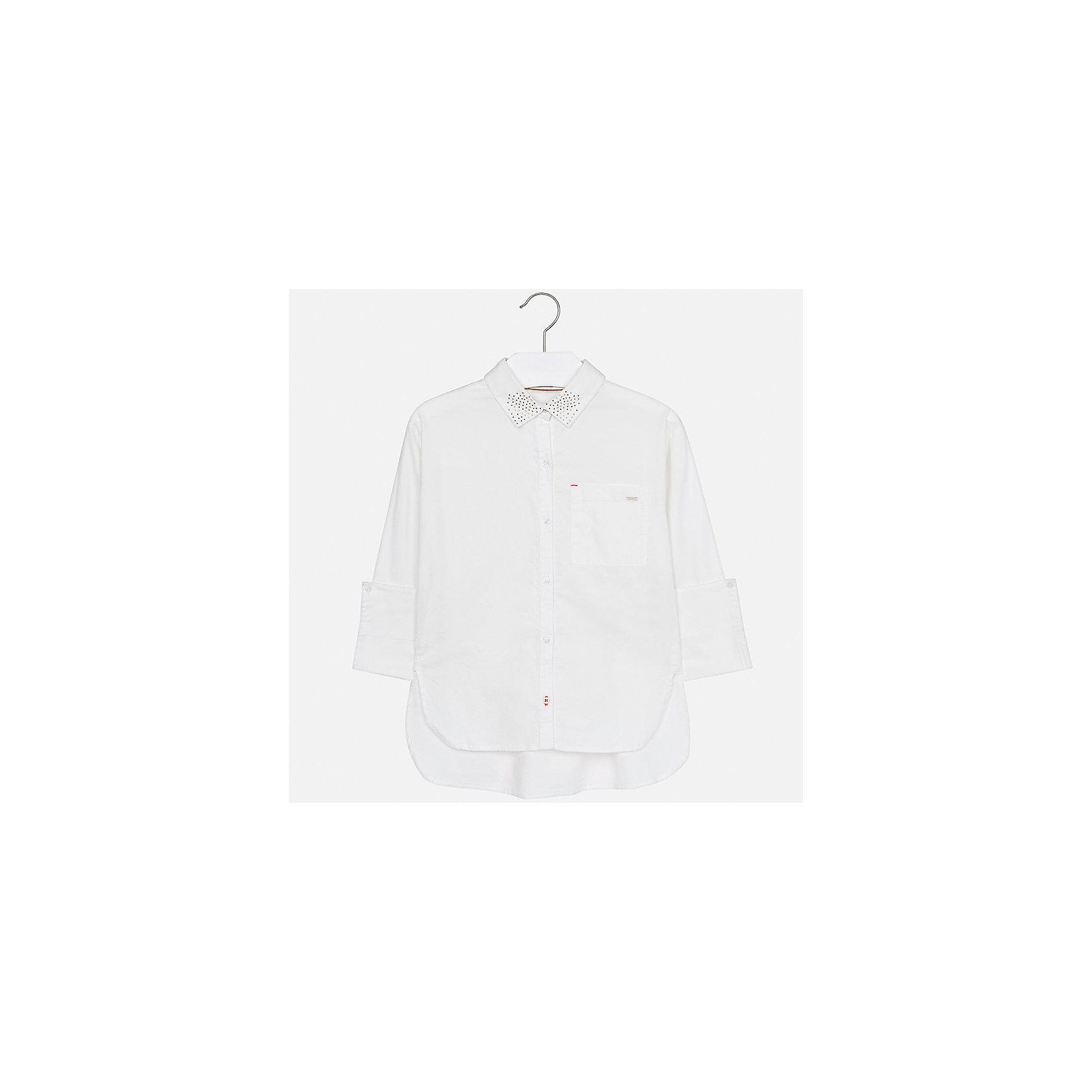 Рубашка Mayoral для девочкиБлузки и рубашки<br>Характеристики товара:<br><br>• цвет: бежевый<br>• состав ткани: 100% хлопок<br>• длинные рукава<br>• сезон: круглый год<br>• застежка: пуговицы<br>• страна бренда: Испания<br>• страна изготовитель: Индия<br><br>Бежевая блузка Mayoral обеспечит ребенку комфорт и сделает наряд оригинальным. Детская блузка для девочки от Майорал - одна из самых модных вещей наступающего сезона.<br><br>Детская одежда от испанской компании Mayoral отличаются оригинальным и всегда стильным дизайном. Качество продукции неизменно очень высокое.<br><br>Блузку для девочки Mayoral (Майорал) можно купить в нашем интернет-магазине.<br><br>Ширина мм: 186<br>Глубина мм: 87<br>Высота мм: 198<br>Вес г: 197<br>Цвет: бежевый<br>Возраст от месяцев: 96<br>Возраст до месяцев: 108<br>Пол: Женский<br>Возраст: Детский<br>Размер: 128/134,170,140,152,158,164<br>SKU: 6921711