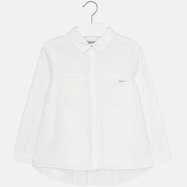 Купить Рубашка Mayoral для девочки, Индия, белый, 158, 128/134, 170, 164, 152, 140, Женский