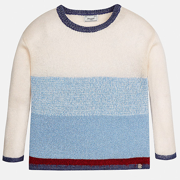 Свитер Mayoral для девочкиСвитера и кардиганы<br>Характеристики товара:<br><br>• цвет: голубой<br>• состав ткани: 71% акрил, 17% полиэстер, 8% металлизированная нить, 4% полиамид<br>• длинные рукава<br>• сезон: круглый год<br>• страна бренда: Испания<br>• страна изготовитель: Индия<br><br>Оригинальный свитер для девочки от Майорал поможет обеспечить ребенку тепло и комфорт. Детский свитер Mayoral подойдет и для зимней погоды, и для прохладного летнего вечера. <br><br>Детская одежда от испанской компании Mayoral отличаются оригинальным и всегда стильным дизайном. Качество продукции неизменно очень высокое.<br><br>Свитер для девочки Mayoral (Майорал) можно купить в нашем интернет-магазине.<br><br>Ширина мм: 190<br>Глубина мм: 74<br>Высота мм: 229<br>Вес г: 236<br>Цвет: голубой<br>Возраст от месяцев: 168<br>Возраст до месяцев: 180<br>Пол: Женский<br>Возраст: Детский<br>Размер: 170,128/134,140,152,158,164<br>SKU: 6921781