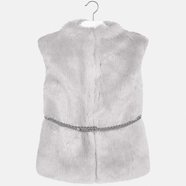 Жилет Mayoral для девочкиВерхняя одежда<br>Характеристики товара:<br><br>• цвет: серый<br>• состав ткани: 85% акрил, 15% полиэстер,, подкладка - 100% полиэстер<br>• без рукавов<br>• сезон: круглый год<br>• застежка: молния<br>• страна бренда: Испания<br>• страна изготовитель: Индия<br><br>Детский жилет от Mayoral подойдет и для зимней погоды, и для прохладного летнего вечера. Оригинальный жилет из искусственного меха для девочки от Майорал поможет обеспечить ребенку тепло и комфорт. <br><br>Детская одежда от испанской компании Mayoral отличаются оригинальным и всегда стильным дизайном. Качество продукции неизменно очень высокое.<br><br>Жилет для девочки Mayoral (Майорал) можно купить в нашем интернет-магазине.<br>Ширина мм: 190; Глубина мм: 74; Высота мм: 229; Вес г: 236; Цвет: серый; Возраст от месяцев: 96; Возраст до месяцев: 108; Пол: Женский; Возраст: Детский; Размер: 128/134,170,164,158,152,140; SKU: 6921850;