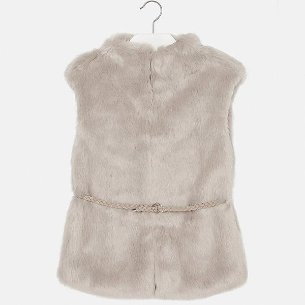 Жилет Mayoral для девочкиЖилеты<br>Характеристики товара:<br><br>• цвет: коричневый<br>• состав ткани: 85% акрил, 15% полиэстер,, подкладка - 100% полиэстер<br>• без рукавов<br>• сезон: круглый год<br>• застежка: молния<br>• страна бренда: Испания<br>• страна изготовитель: Индия<br><br>Стильный меховой жилет для девочки от Майорал поможет обеспечить ребенку тепло и комфорт. Детский жилет от Mayoral подойдет и для зимней погоды, и для прохладного летнего вечера. <br><br>В одежде от испанской компании Майорал ребенок будет выглядеть модно, а чувствовать себя - комфортно. Целая команда европейских талантливых дизайнеров работает над созданием стильных и оригинальных моделей одежды.<br><br>Жилет для девочки Mayoral (Майорал) можно купить в нашем интернет-магазине.<br>Ширина мм: 190; Глубина мм: 74; Высота мм: 229; Вес г: 236; Цвет: шампанское; Возраст от месяцев: 132; Возраст до месяцев: 144; Пол: Женский; Возраст: Детский; Размер: 152,128/134,140,170,164,158; SKU: 6921857;
