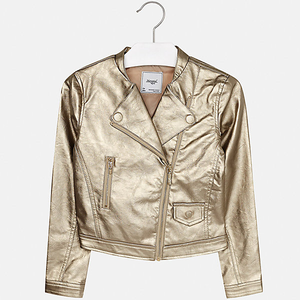 Куртка Mayoral для девочкиВерхняя одежда<br>Характеристики товара:<br><br>• цвет: бежевый<br>• состав ткани: 100% полиуретан, подклад - 100% полиэстер<br>• застежка: молния<br>• длинные рукава<br>• сезон: демисезон<br>• страна бренда: Испания<br>• страна изготовитель: Индия<br><br>Эта модель поможет сделать образ стильным и оригинальным. Куртка с косой молнией снова стала одной из моднейших вещей сезона. <br><br>В одежде от испанской компании Майорал ребенок будет выглядеть модно, а чувствовать себя - комфортно. Целая команда европейских талантливых дизайнеров работает над созданием стильных и оригинальных моделей одежды.<br><br>Куртку для девочки Mayoral (Майорал) можно купить в нашем интернет-магазине.<br><br>Ширина мм: 356<br>Глубина мм: 10<br>Высота мм: 245<br>Вес г: 519<br>Цвет: шампанское<br>Возраст от месяцев: 96<br>Возраст до месяцев: 108<br>Пол: Женский<br>Возраст: Детский<br>Размер: 128/134,170,164,158,152,140<br>SKU: 6922010