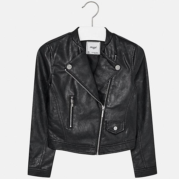 Куртка для девочки MayoralВерхняя одежда<br>Характеристики товара:<br><br>• цвет: черный<br>• состав ткани: 100% полиуретан, подклад - 100% полиэстер<br>• застежка: молния<br>• длинные рукава<br>• сезон: демисезон<br>• страна бренда: Испания<br>• страна изготовитель: Индия<br><br>Черная куртка с косой молнией снова стала одной из моднейших вещей. Отличный способ обеспечить ребенку тепло и комфорт - надеть стильный пиджак от Mayoral. <br><br>Для производства детской одежды популярный бренд Mayoral использует только качественную фурнитуру и материалы. Оригинальные и модные вещи от Майорал неизменно привлекают внимание и нравятся детям.<br><br>Куртку для девочки Mayoral (Майорал) можно купить в нашем интернет-магазине.<br><br>Ширина мм: 356<br>Глубина мм: 10<br>Высота мм: 245<br>Вес г: 519<br>Цвет: черный<br>Возраст от месяцев: 168<br>Возраст до месяцев: 180<br>Пол: Женский<br>Возраст: Детский<br>Размер: 170,128/134,140,152,158,164<br>SKU: 6922024