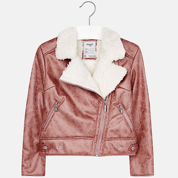 Куртка Mayoral для девочкиВерхняя одежда<br>Характеристики товара:<br><br>• цвет: розовый<br>• состав ткани: 100% полиэстер, подклад - 100% полиэстер<br>• застежка: молния<br>• длинные рукава<br>• сезон: демисезон<br>• температурный режим: от +5<br>• страна бренда: Испания<br>• страна изготовитель: Индия<br><br>Эта демисезонная куртка поможет сделать образ стильным и оригинальным. Куртка с косой молнией снова стала одной из моднейших вещей. <br><br>В одежде от испанской компании Майорал ребенок будет выглядеть модно, а чувствовать себя - комфортно. Целая команда европейских талантливых дизайнеров работает над созданием стильных и оригинальных моделей одежды.<br><br>Куртку для девочки Mayoral (Майорал) можно купить в нашем интернет-магазине.<br><br>Ширина мм: 356<br>Глубина мм: 10<br>Высота мм: 245<br>Вес г: 519<br>Цвет: розовый<br>Возраст от месяцев: 96<br>Возраст до месяцев: 108<br>Пол: Женский<br>Возраст: Детский<br>Размер: 128/134,170,164,158,152,140<br>SKU: 6922031