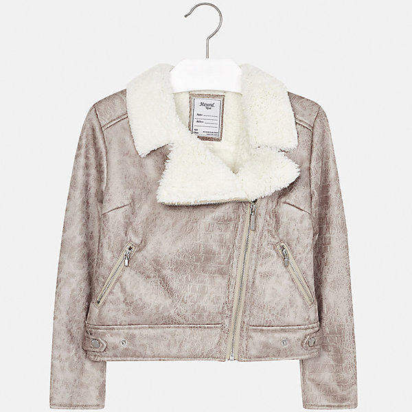 Куртка Mayoral для девочкиВерхняя одежда<br>Характеристики товара:<br><br>• цвет: коричневый<br>• состав ткани: 100% полиэстер, подклад - 100% полиэстер<br>• застежка: молния<br>• длинные рукава<br>• сезон: демисезон<br>• температурный режим: от +5<br>• страна бренда: Испания<br>• страна изготовитель: Индия<br><br>Коричневая стильная куртка с косой молнией для девочки от Майорал поможет обеспечить тепло и комфорт. Эффектная детская куртка отличается укороченным силуэтом. <br><br>Детская одежда от испанской компании Mayoral отличаются оригинальным и всегда стильным дизайном. Качество продукции неизменно очень высокое.<br><br>Куртку для девочки Mayoral (Майорал) можно купить в нашем интернет-магазине.<br><br>Ширина мм: 356<br>Глубина мм: 10<br>Высота мм: 245<br>Вес г: 519<br>Цвет: бежевый/коричневый<br>Возраст от месяцев: 168<br>Возраст до месяцев: 180<br>Пол: Женский<br>Возраст: Детский<br>Размер: 170,128/134,140,152,158,164<br>SKU: 6922038