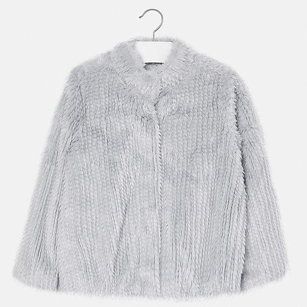 Куртка для девочки MayoralВерхняя одежда<br>Характеристики товара:<br><br>• цвет: серый<br>• состав ткани: 70% модакрил , 30% полиэстер, подклад - 100% полиэстер<br>• застежка: молния<br>• длинные рукава<br>• сезон: демисезон<br>• температурный режим: от -5 до +5<br>• страна бренда: Испания<br>• страна изготовитель: Индия<br><br>Эта демисезонная куртка поможет сделать образ стильным и оригинальным. Куртка из искусственного меха снова стала одной из моднейших вещей. <br><br>В одежде от испанской компании Майорал ребенок будет выглядеть модно, а чувствовать себя - комфортно. Целая команда европейских талантливых дизайнеров работает над созданием стильных и оригинальных моделей одежды.<br><br>Куртку для девочки Mayoral (Майорал) можно купить в нашем интернет-магазине.<br><br>Ширина мм: 356<br>Глубина мм: 10<br>Высота мм: 245<br>Вес г: 519<br>Цвет: серый<br>Возраст от месяцев: 96<br>Возраст до месяцев: 108<br>Пол: Женский<br>Возраст: Детский<br>Размер: 128/134,170,164,158,152,140<br>SKU: 6922052