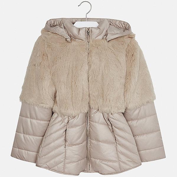 Куртка Mayoral для девочкиВерхняя одежда<br>Характеристики товара:<br><br>• цвет: коричневый<br>• состав ткани: 58% полиэстер, 42% акрил, подклад - 65% полиэстер, 35% хлопок, утеплитель - 100% полиэстер<br>• застежка: молния<br>• длинные рукава<br>• сезон: демисезон<br>• температурный режим: от 0 до -10<br>• страна бренда: Испания<br>• страна изготовитель: Индия<br><br>Коричневая стильная куртка с отделкой из искусственного меха для девочки от Майорал поможет обеспечить тепло и комфорт. Эффектная детская куртка отличается удлиненным силуэтом и наличием капюшона. <br><br>Детская одежда от испанской компании Mayoral отличаются оригинальным и всегда стильным дизайном. Качество продукции неизменно очень высокое.<br><br>Куртку для девочки Mayoral (Майорал) можно купить в нашем интернет-магазине.<br><br>Ширина мм: 356<br>Глубина мм: 10<br>Высота мм: 245<br>Вес г: 519<br>Цвет: коричневый<br>Возраст от месяцев: 96<br>Возраст до месяцев: 108<br>Пол: Женский<br>Возраст: Детский<br>Размер: 128/134,170,164,158,152,140<br>SKU: 6922059