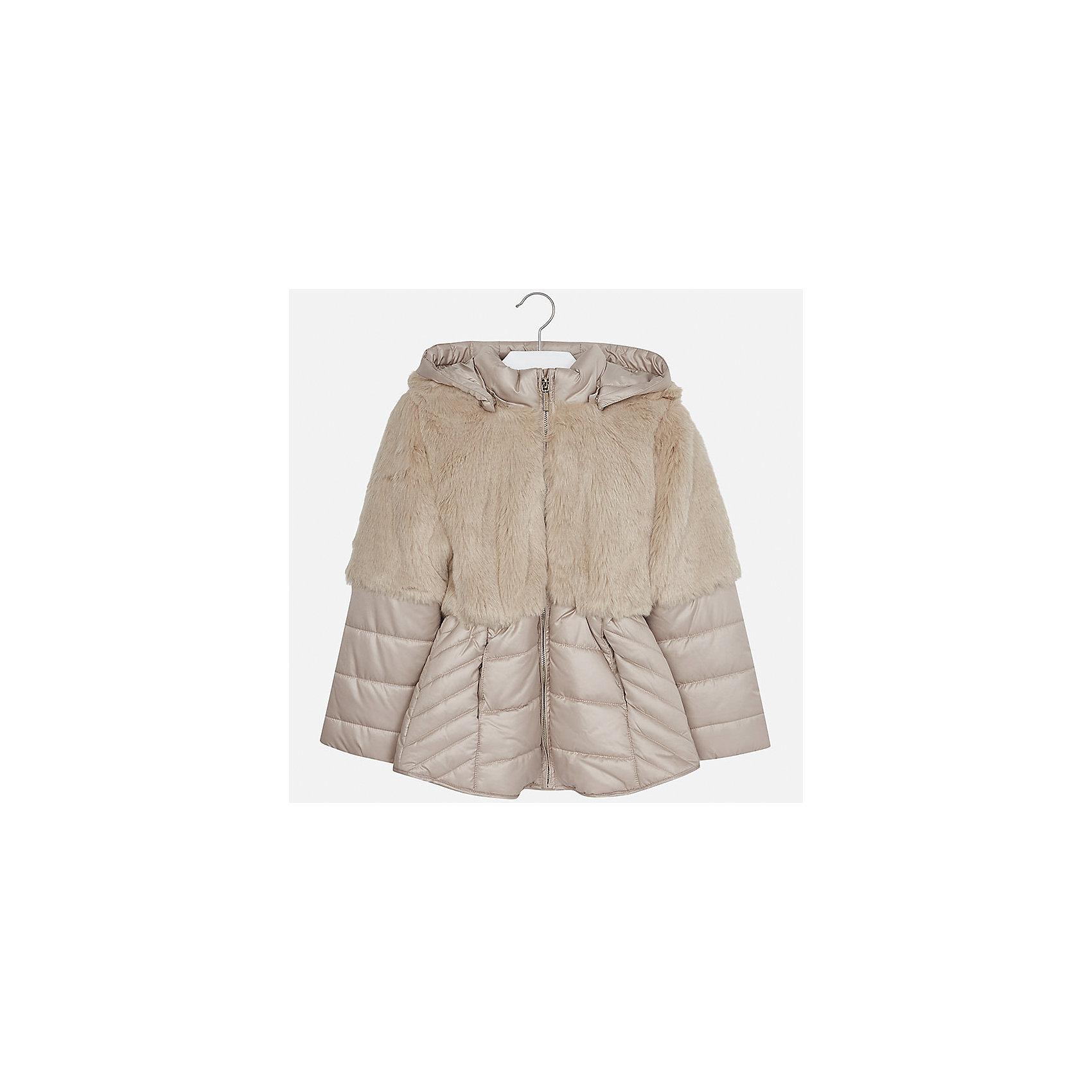 Куртка Mayoral для девочкиДемисезонные куртки<br>Характеристики товара:<br><br>• цвет: коричневый<br>• состав ткани: 58% полиэстер, 42% акрил, подклад - 65% полиэстер, 35% хлопок, утеплитель - 100% полиэстер<br>• застежка: молния<br>• длинные рукава<br>• сезон: демисезон<br>• температурный режим: от 0 до -10<br>• страна бренда: Испания<br>• страна изготовитель: Индия<br><br>Коричневая стильная куртка с отделкой из искусственного меха для девочки от Майорал поможет обеспечить тепло и комфорт. Эффектная детская куртка отличается удлиненным силуэтом и наличием капюшона. <br><br>Детская одежда от испанской компании Mayoral отличаются оригинальным и всегда стильным дизайном. Качество продукции неизменно очень высокое.<br><br>Куртку для девочки Mayoral (Майорал) можно купить в нашем интернет-магазине.<br><br>Ширина мм: 356<br>Глубина мм: 10<br>Высота мм: 245<br>Вес г: 519<br>Цвет: коричневый<br>Возраст от месяцев: 168<br>Возраст до месяцев: 180<br>Пол: Женский<br>Возраст: Детский<br>Размер: 170,128/134,140,152,158,164<br>SKU: 6922059