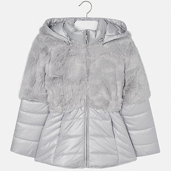 Куртка для девочки MayoralВерхняя одежда<br>Характеристики товара:<br><br>• цвет: серый<br>• состав ткани: 58% полиэстер, 42% акрил, подклад - 65% полиэстер, 35% хлопок, утеплитель - 100% полиэстер<br>• застежка: молния<br>• длинные рукава<br>• сезон: демисезон<br>• температурный режим: от - 0 до -10<br>• страна бренда: Испания<br>• страна изготовитель: Индия<br><br>Серая модная куртка для девочки от Майорал поможет обеспечить тепло и комфорт. Эффектная детская куртка имеет удобные карманы и капюшон. <br><br>Для производства детской одежды популярный бренд Mayoral использует только качественную фурнитуру и материалы. Оригинальные и модные вещи от Майорал неизменно привлекают внимание и нравятся детям.<br><br>Куртку для девочки Mayoral (Майорал) можно купить в нашем интернет-магазине.<br><br>Ширина мм: 356<br>Глубина мм: 10<br>Высота мм: 245<br>Вес г: 519<br>Цвет: серый<br>Возраст от месяцев: 96<br>Возраст до месяцев: 108<br>Пол: Женский<br>Возраст: Детский<br>Размер: 128/134,170,164,158,152,140<br>SKU: 6922066