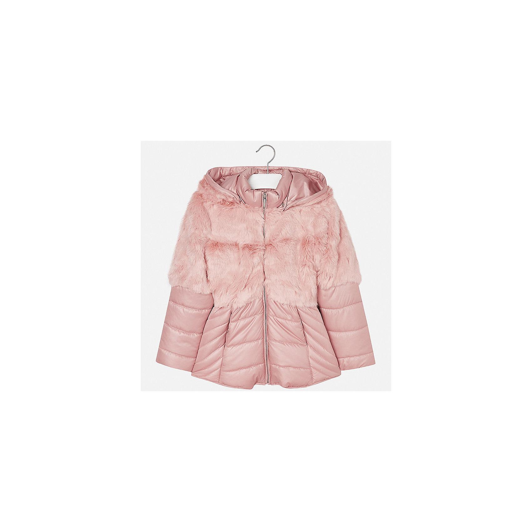 Куртка для девочки MayoralДемисезонные куртки<br>Характеристики товара:<br><br>• цвет: розовый<br>• состав ткани: 58% полиэстер, 42% акрил, подклад - 65% полиэстер, 35% хлопок, утеплитель - 100% полиэстер<br>• застежка: молния<br>• длинные рукава<br>• сезон: демисезон<br>• температурный режим: от  0 до -10<br>• страна бренда: Испания<br>• страна изготовитель: Индия<br><br>Эта демисезонная куртка поможет сделать образ стильным и оригинальным. Куртка с отделкой из искусственного меха снова стала одной из моднейших вещей. <br><br>В одежде от испанской компании Майорал ребенок будет выглядеть модно, а чувствовать себя - комфортно. Целая команда европейских талантливых дизайнеров работает над созданием стильных и оригинальных моделей одежды.<br><br>Куртку для девочки Mayoral (Майорал) можно купить в нашем интернет-магазине.<br><br>Ширина мм: 356<br>Глубина мм: 10<br>Высота мм: 245<br>Вес г: 519<br>Цвет: розовый<br>Возраст от месяцев: 168<br>Возраст до месяцев: 180<br>Пол: Женский<br>Возраст: Детский<br>Размер: 170,128/134,140,152,158,164<br>SKU: 6922073