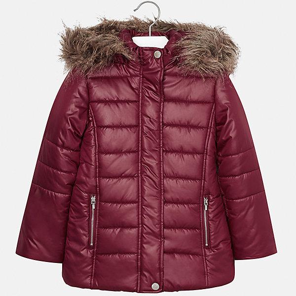 Куртка Mayoral для девочкиВерхняя одежда<br>Характеристики товара:<br><br>• цвет: красный<br>• состав ткани: 100% полиэстер, подклад - 100% полиэстер, утеплитель - 100% полиэстер<br>• застежка: молния<br>• капюшон с опушкой<br>• сезон: зима<br>• температурный режим: от  0 до -10<br>• страна бренда: Испания<br>• страна изготовитель: Индия<br><br>Красная стеганая куртка для девочки от Майорал поможет обеспечить тепло и комфорт. Модель имеет удобные карманы и капюшон, защищающий от непогоды. <br><br>Для производства детской одежды популярный бренд Mayoral использует только качественную фурнитуру и материалы. Оригинальные и модные вещи от Майорал неизменно привлекают внимание и нравятся детям.<br><br>Куртку для девочки Mayoral (Майорал) можно купить в нашем интернет-магазине.<br><br>Ширина мм: 356<br>Глубина мм: 10<br>Высота мм: 245<br>Вес г: 519<br>Цвет: красный<br>Возраст от месяцев: 96<br>Возраст до месяцев: 108<br>Пол: Женский<br>Возраст: Детский<br>Размер: 128/134,170,164,158,152,140<br>SKU: 6922087