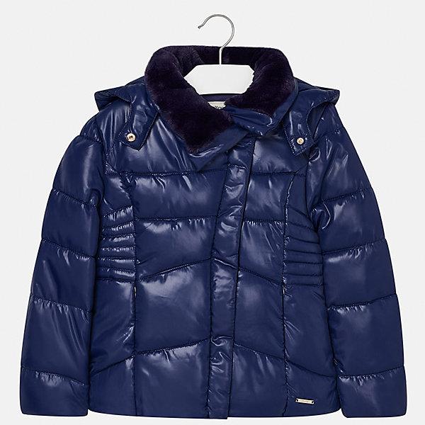 Куртка для девочки MayoralВерхняя одежда<br>Характеристики товара:<br><br>• цвет: синий<br>• состав ткани: 100% полиэстер, подклад - 100% полиэстер, утеплитель - 100% полиэстер<br>• застежка: молния<br>• длинные рукава<br>• сезон: зима<br>• температурный режим: от  0 до -10<br>• страна бренда: Испания<br>• страна изготовитель: Индия<br><br>Эта утепленная куртка поможет сделать образ стильным и оригинальным. Куртка с отделкой из искусственного меха соответствует новейшим тенденциям молодежной моды. <br><br>В одежде от испанской компании Майорал ребенок будет выглядеть модно, а чувствовать себя - комфортно. Целая команда европейских талантливых дизайнеров работает над созданием стильных и оригинальных моделей одежды.<br><br>Куртку для девочки Mayoral (Майорал) можно купить в нашем интернет-магазине.<br>Ширина мм: 356; Глубина мм: 10; Высота мм: 245; Вес г: 519; Цвет: темно-синий; Возраст от месяцев: 168; Возраст до месяцев: 180; Пол: Женский; Возраст: Детский; Размер: 170,128/134,140,152,158,164; SKU: 6922094;