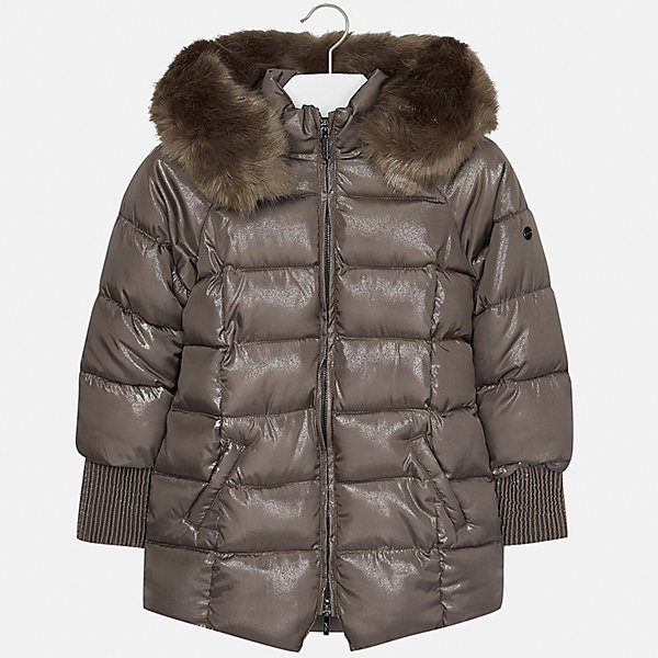 Куртка Mayoral для девочкиДемисезонные куртки<br>Характеристики товара:<br><br>• цвет: коричневый<br>• состав ткани: 95% полиэстер, 5% модакрил, подклад - 100% полиэстер, утеплитель - 100% полиэстер<br>• застежка: молния<br>• капюшон с опушкой<br>• сезон: зима<br>• температурный режим: от 0 до -10<br>• страна бренда: Испания<br>• страна изготовитель: Индия<br><br>Стеганая детская куртка имеет удобные карманы и капюшон. Коричневая утепленная куртка для девочки от Майорал поможет обеспечить тепло и комфорт во время холодных прогулок. <br><br>Для производства детской одежды популярный бренд Mayoral использует только качественную фурнитуру и материалы. Оригинальные и модные вещи от Майорал неизменно привлекают внимание и нравятся детям.<br><br>Куртку для девочки Mayoral (Майорал) можно купить в нашем интернет-магазине.<br><br>Ширина мм: 356<br>Глубина мм: 10<br>Высота мм: 245<br>Вес г: 519<br>Цвет: коричневый<br>Возраст от месяцев: 96<br>Возраст до месяцев: 108<br>Пол: Женский<br>Возраст: Детский<br>Размер: 128/134,170,164,158,152,140<br>SKU: 6922129