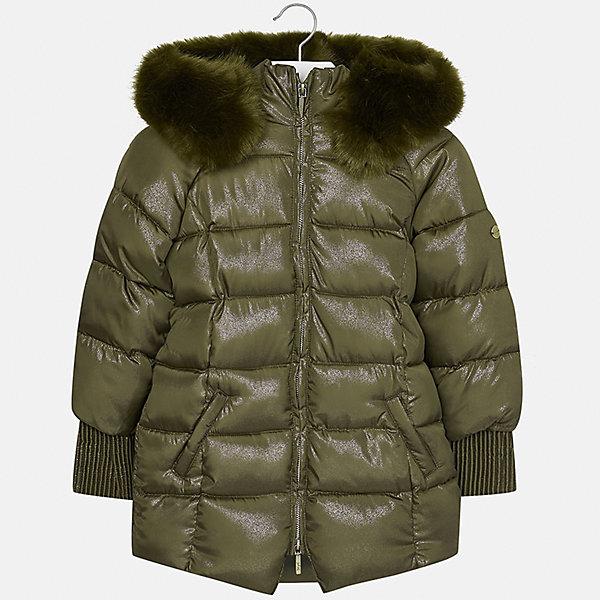 Куртка Mayoral для девочкиВерхняя одежда<br>Характеристики товара:<br><br>• цвет: зеленый<br>• состав ткани: 100% полиэстер, подклад - 100% полиэстер, утеплитель - 100% полиэстер<br>• застежка: молния<br>• капюшон с опушкой<br>• сезон: зима<br>• температурный режим: от 0 до -10С<br>• страна бренда: Испания<br>• страна изготовитель: Индия<br><br>Зеленая стильного оттенка куртка с опушкой для девочки от Майорал поможет обеспечить тепло и комфорт. Эффектная детская куртка отличается удлиненным силуэтом и наличием капюшона. <br><br>Детская одежда от испанской компании Mayoral отличаются оригинальным и всегда стильным дизайном. Качество продукции неизменно очень высокое.<br><br>Куртку для девочки Mayoral (Майорал) можно купить в нашем интернет-магазине.<br><br>Ширина мм: 356<br>Глубина мм: 10<br>Высота мм: 245<br>Вес г: 519<br>Цвет: зеленый<br>Возраст от месяцев: 96<br>Возраст до месяцев: 108<br>Пол: Женский<br>Возраст: Детский<br>Размер: 128/134,170,164,158,152,140<br>SKU: 6922143