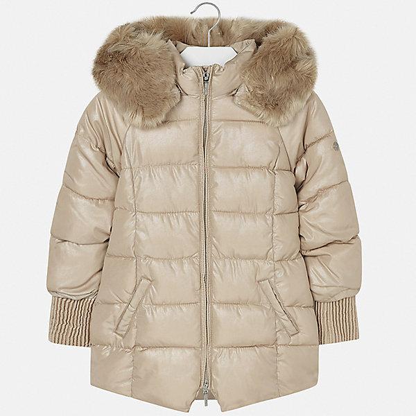 Куртка для девочки MayoralВерхняя одежда<br>Характеристики товара:<br><br>• цвет: коричневый<br>• состав ткани: 95% полиэстер, 5% модакрил, подклад - 100% полиэстер, утеплитель - 100% полиэстер<br>• застежка: молния<br>• капюшон с опушкой<br>• сезон: зима<br>• температурный режим: от 0 до -10С<br>• страна бренда: Испания<br>• страна изготовитель: Индия<br><br>Коричневая утепленная куртка для девочки от Майорал поможет обеспечить тепло и комфорт. Такая эффектная детская куртка имеет удобные карманы и капюшон. <br><br>Для производства детской одежды популярный бренд Mayoral использует только качественную фурнитуру и материалы. Оригинальные и модные вещи от Майорал неизменно привлекают внимание и нравятся детям.<br><br>Куртку для девочки Mayoral (Майорал) можно купить в нашем интернет-магазине.<br><br>Ширина мм: 356<br>Глубина мм: 10<br>Высота мм: 245<br>Вес г: 519<br>Цвет: бежевый<br>Возраст от месяцев: 168<br>Возраст до месяцев: 180<br>Пол: Женский<br>Возраст: Детский<br>Размер: 170,128/134,140,152,158,164<br>SKU: 6922150