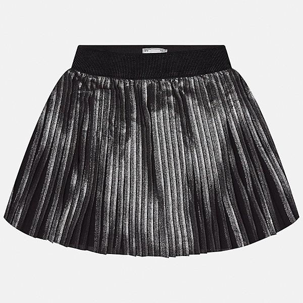 Юбка для девочки MayoralЮбки<br>Характеристики товара:<br><br>• цвет: черный<br>• состав ткани: 100% полиэстер, подкладка - 65% полиэстер, 35% хлопок<br>• сезон: круглый год<br>• особенности модели: нарядная<br>• страна бренда: Испания<br>• страна изготовитель: Индия<br><br>Плиссированная оригинальная юбка от бренда Майорал поможет девочке выглядеть женственно и стильно. Юбка имеет подкладку.<br><br>В одежде от испанской компании Майорал ребенок будет выглядеть модно, а чувствовать себя - комфортно. Целая команда европейских талантливых дизайнеров работает над созданием стильных и оригинальных моделей одежды.<br><br>Юбку для девочки Mayoral (Майорал) можно купить в нашем интернет-магазине.<br>Ширина мм: 207; Глубина мм: 10; Высота мм: 189; Вес г: 183; Цвет: черный; Возраст от месяцев: 168; Возраст до месяцев: 180; Пол: Женский; Возраст: Детский; Размер: 170,128/134,164,158,152,140; SKU: 6922396;