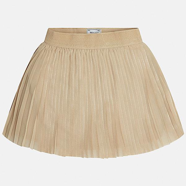 Юбка для девочки MayoralЮбки<br>Характеристики товара:<br><br>• цвет: коричневый<br>• состав ткани: 100% полиэстер, подкладка - 65% полиэстер, 35% хлопок<br>• сезон: круглый год<br>• особенности модели: нарядная<br>• страна бренда: Испания<br>• страна изготовитель: Индия<br><br>Оригинальная юбка от бренда Майорал поможет девочке выглядеть женственно и стильно. Юбка отличается плиссированным подолом.<br><br>Для производства детской одежды популярный бренд Mayoral использует только качественную фурнитуру и материалы. Оригинальные и модные вещи от Майорал неизменно привлекают внимание и нравятся детям.<br><br>Юбку для девочки Mayoral (Майорал) можно купить в нашем интернет-магазине.<br>Ширина мм: 207; Глубина мм: 10; Высота мм: 189; Вес г: 183; Цвет: коричневый; Возраст от месяцев: 96; Возраст до месяцев: 108; Пол: Женский; Возраст: Детский; Размер: 170,152,140,158,164,128/134; SKU: 6922403;