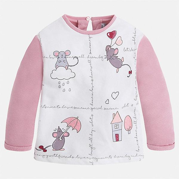 Купить Комплект: футболка с длинным рукавом и леггинсы для девочки Mayoral, Китай, розовый, 92, 134, 128, 122, 116, 110, 104, 98, Женский