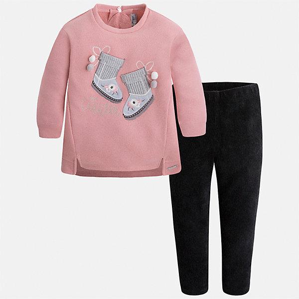 Купить Комплект: блузка и леггинсы для девочки Mayoral, Китай, розовый, 134, 128, 122, 116, 110, 104, 98, 92, Женский