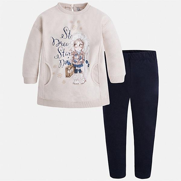 Купить Комплект: блузка и леггинсы для девочки Mayoral, Китай, черный, 122, 116, 110, 104, 98, 134, 92, 128, Женский