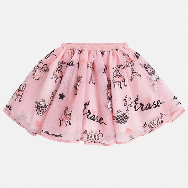 Юбка Mayoral для девочкиЮбки<br>Характеристики товара:<br><br>• цвет: розовый<br>• состав ткани: 100% полиэстер, подклад - 60% хлопок, 40% полиэстер<br>• сезон: круглый год<br>• пояс: резинка<br>• страна бренда: Испания<br>• страна изготовитель: Индия<br><br>Такая юбка отличается ажурным пышным силуэтом. Детская юбка от бренда Майорал поможет девочке выглядеть женственно и стильно. <br><br>Детская одежда от испанской компании Mayoral отличаются оригинальным и всегда стильным дизайном. Качество продукции неизменно очень высокое.<br><br>Юбку для девочки Mayoral (Майорал) можно купить в нашем интернет-магазине.<br><br>Ширина мм: 207<br>Глубина мм: 10<br>Высота мм: 189<br>Вес г: 183<br>Цвет: розовый<br>Возраст от месяцев: 84<br>Возраст до месяцев: 96<br>Пол: Женский<br>Возраст: Детский<br>Размер: 128,122,116,110,104,98,92,134<br>SKU: 6923040