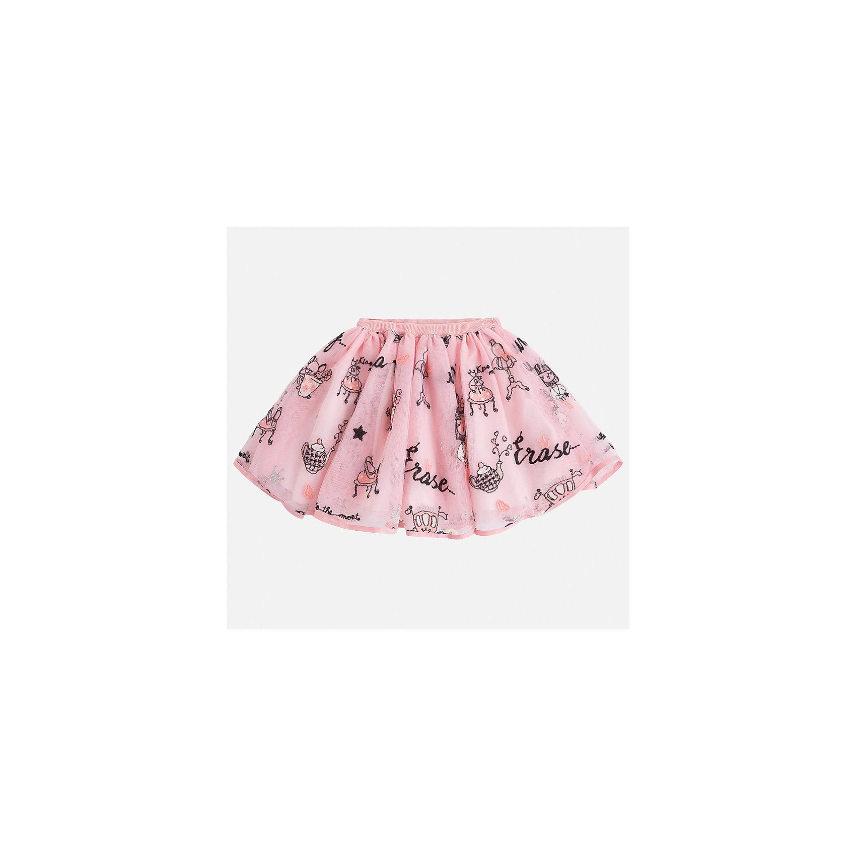 Юбка Mayoral для девочкиЮбки<br>Характеристики товара:<br><br>• цвет: розовый<br>• состав ткани: 100% полиэстер, подклад - 60% хлопок, 40% полиэстер<br>• сезон: круглый год<br>• пояс: резинка<br>• страна бренда: Испания<br>• страна изготовитель: Индия<br><br>Такая юбка отличается ажурным пышным силуэтом. Детская юбка от бренда Майорал поможет девочке выглядеть женственно и стильно. <br><br>Детская одежда от испанской компании Mayoral отличаются оригинальным и всегда стильным дизайном. Качество продукции неизменно очень высокое.<br><br>Юбку для девочки Mayoral (Майорал) можно купить в нашем интернет-магазине.<br><br>Ширина мм: 207<br>Глубина мм: 10<br>Высота мм: 189<br>Вес г: 183<br>Цвет: розовый<br>Возраст от месяцев: 18<br>Возраст до месяцев: 24<br>Пол: Женский<br>Возраст: Детский<br>Размер: 92,134,128,122,116,110,104,98<br>SKU: 6923040