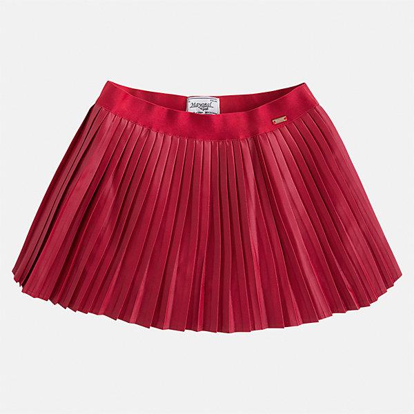 Юбка Mayoral для девочкиЮбки<br>Характеристики товара:<br><br>• цвет: красный<br>• состав ткани: 100% полиуретан, подклад - 100% хлопок<br>• сезон: круглый год<br>• плиссированная<br>• особенности модели: нарядная<br>• страна бренда: Испания<br>• страна изготовитель: Индия<br><br>Такая юбка отличается мелкими плиссированными складками. Детская юбка от бренда Майорал поможет девочке выглядеть женственно и стильно. <br><br>Детская одежда от испанской компании Mayoral отличаются оригинальным и всегда стильным дизайном. Качество продукции неизменно очень высокое.<br><br>Юбку для девочки Mayoral (Майорал) можно купить в нашем интернет-магазине.<br><br>Ширина мм: 207<br>Глубина мм: 10<br>Высота мм: 189<br>Вес г: 183<br>Цвет: красный<br>Возраст от месяцев: 48<br>Возраст до месяцев: 60<br>Пол: Женский<br>Возраст: Детский<br>Размер: 110,134,98,104,116,122,128<br>SKU: 6923082