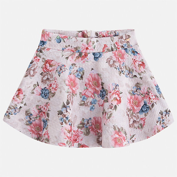 Юбка Mayoral для девочкиОдежда<br>Характеристики товара:<br><br>• цвет: коричневый<br>• состав ткани: 95% полиэстер, 5% эластан<br>• сезон: круглый год<br>• застежка: молния<br>• страна бренда: Испания<br>• страна изготовитель: Индия<br><br>Эта юбка отличается красивым цветочным принтом. Детская юбка от бренда Майорал поможет девочке выглядеть женственно и стильно. <br><br>Детская одежда от испанской компании Mayoral отличаются оригинальным и всегда стильным дизайном. Качество продукции неизменно очень высокое.<br><br>Юбку для девочки Mayoral (Майорал) можно купить в нашем интернет-магазине.<br><br>Ширина мм: 207<br>Глубина мм: 10<br>Высота мм: 189<br>Вес г: 183<br>Цвет: коричневый<br>Возраст от месяцев: 24<br>Возраст до месяцев: 36<br>Пол: Женский<br>Возраст: Детский<br>Размер: 98,122,116,110,104<br>SKU: 6923106