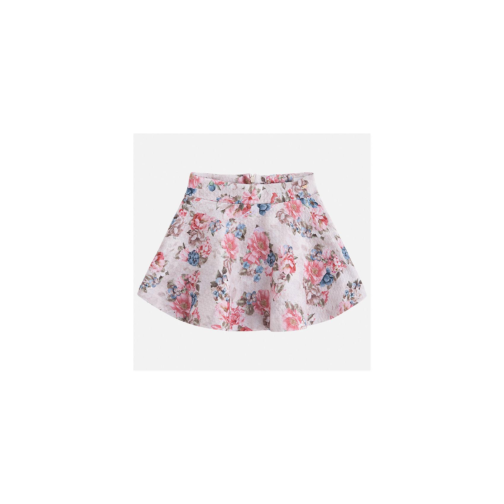 Юбка Mayoral для девочкиОдежда<br>Характеристики товара:<br><br>• цвет: коричневый<br>• состав ткани: 95% полиэстер, 5% эластан<br>• сезон: круглый год<br>• застежка: молния<br>• страна бренда: Испания<br>• страна изготовитель: Индия<br><br>Эта юбка отличается красивым цветочным принтом. Детская юбка от бренда Майорал поможет девочке выглядеть женственно и стильно. <br><br>Детская одежда от испанской компании Mayoral отличаются оригинальным и всегда стильным дизайном. Качество продукции неизменно очень высокое.<br><br>Юбку для девочки Mayoral (Майорал) можно купить в нашем интернет-магазине.<br><br>Ширина мм: 207<br>Глубина мм: 10<br>Высота мм: 189<br>Вес г: 183<br>Цвет: коричневый<br>Возраст от месяцев: 72<br>Возраст до месяцев: 84<br>Пол: Женский<br>Возраст: Детский<br>Размер: 122,98,104,110,116<br>SKU: 6923106