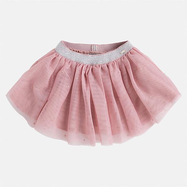 Юбка для девочки MayoralЮбки<br>Характеристики товара:<br><br>• цвет: розовый<br>• состав ткани: 100% полиэстер, подклад - 65% полиэстер, 35% хлопок<br>• сезон: круглый год<br>• пояс: резинка<br>• особенности модели: нарядная<br>• страна бренда: Испания<br>• страна изготовитель: Индия<br><br>Эта нарядная юбка отличается пышным силуэтом. Детская юбка от бренда Майорал поможет девочке выглядеть женственно и стильно. <br><br>Детская одежда от испанской компании Mayoral отличаются оригинальным и всегда стильным дизайном. Качество продукции неизменно очень высокое.<br><br>Юбку для девочки Mayoral (Майорал) можно купить в нашем интернет-магазине.<br><br>Ширина мм: 207<br>Глубина мм: 10<br>Высота мм: 189<br>Вес г: 183<br>Цвет: розовый<br>Возраст от месяцев: 96<br>Возраст до месяцев: 108<br>Пол: Женский<br>Возраст: Детский<br>Размер: 134,92,98,104,110,116,122,128<br>SKU: 6923129