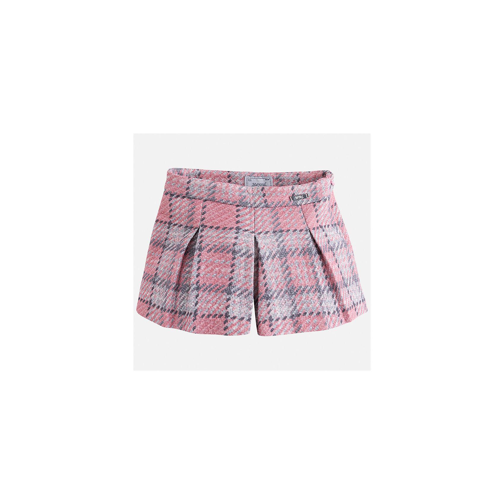 Юбка Mayoral для девочкиЮбки<br>Характеристики товара:<br><br>• цвет: розовый<br>• состав ткани: 85% хлопок, 15% полиэстер<br>• сезон: круглый год<br>• застежка: молния<br>• юбка-шорты<br>• страна бренда: Испания<br>• страна изготовитель: Индия<br><br>Эта оригинальная юбка-шорты отличается стильным силуэтом. Детская юбка от бренда Майорал поможет девочке выглядеть женственно и стильно. <br><br>Детская одежда от испанской компании Mayoral отличаются оригинальным и всегда стильным дизайном. Качество продукции неизменно очень высокое.<br><br>Юбку для девочки Mayoral (Майорал) можно купить в нашем интернет-магазине.<br><br>Ширина мм: 207<br>Глубина мм: 10<br>Высота мм: 189<br>Вес г: 183<br>Цвет: розовый<br>Возраст от месяцев: 60<br>Возраст до месяцев: 72<br>Пол: Женский<br>Возраст: Детский<br>Размер: 116,134,104,110,122,128<br>SKU: 6923153