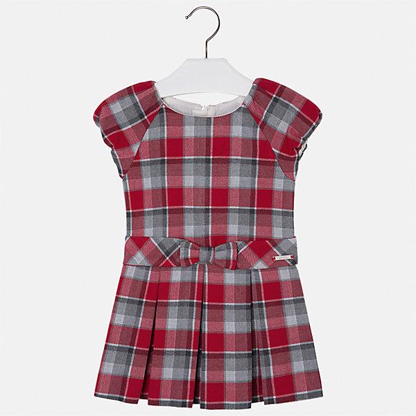 Платье Mayoral для девочкиПлатья и сарафаны<br>Характеристики товара:<br><br>• цвет: красный<br>• состав ткани: 67% полиэстер, 33% хлопок, подклад - 50% хлопок, 50% полиэстер<br>• сезон: круглый год<br>• короткие рукава<br>• застежка: молния<br>• страна бренда: Испания<br>• страна изготовитель: Индия<br><br>Это платье отличается крупными складками на подоле и бантом на поясе. Детское платье от бренда Майорал поможет девочке выглядеть женственно и стильно. <br><br>В одежде от испанской компании Майорал ребенок будет выглядеть модно, а чувствовать себя - комфортно. Целая команда европейских талантливых дизайнеров работает над созданием стильных и оригинальных моделей одежды.<br><br>Платье для девочки Mayoral (Майорал) можно купить в нашем интернет-магазине.<br><br>Ширина мм: 236<br>Глубина мм: 16<br>Высота мм: 184<br>Вес г: 177<br>Цвет: красный<br>Возраст от месяцев: 48<br>Возраст до месяцев: 60<br>Пол: Женский<br>Возраст: Детский<br>Размер: 110,104,98,116,134,128,122<br>SKU: 6923160