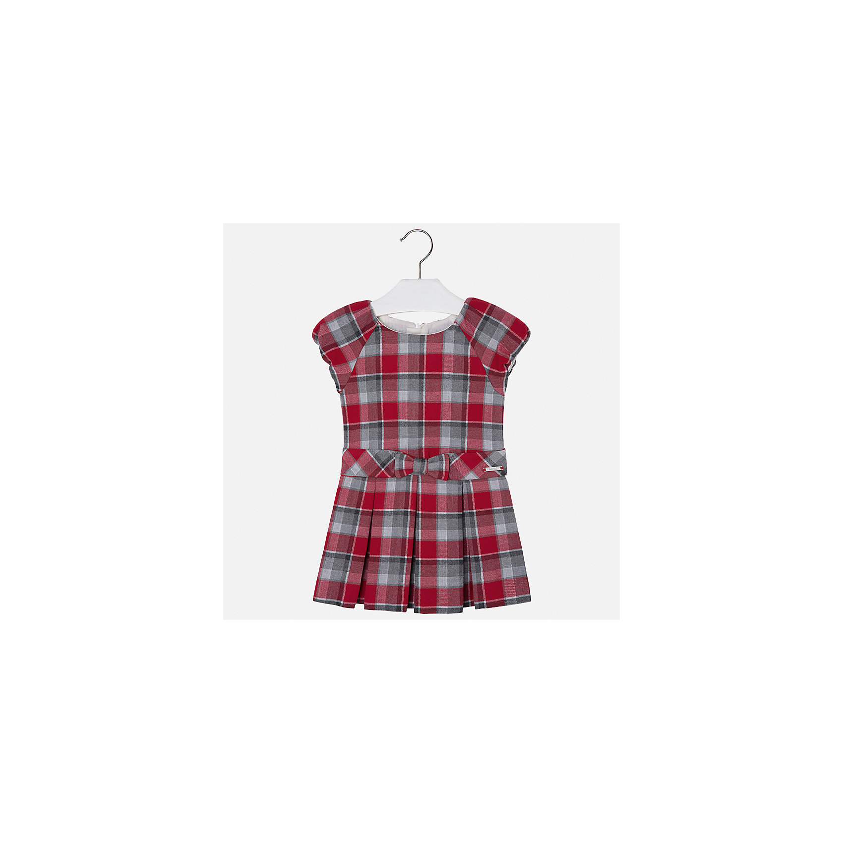 Платье Mayoral для девочкиОсенне-зимние платья и сарафаны<br>Характеристики товара:<br><br>• цвет: красный<br>• состав ткани: 67% полиэстер, 33% хлопок, подклад - 50% хлопок, 50% полиэстер<br>• сезон: круглый год<br>• короткие рукава<br>• застежка: молния<br>• страна бренда: Испания<br>• страна изготовитель: Индия<br><br>Это платье отличается крупными складками на подоле и бантом на поясе. Детское платье от бренда Майорал поможет девочке выглядеть женственно и стильно. <br><br>В одежде от испанской компании Майорал ребенок будет выглядеть модно, а чувствовать себя - комфортно. Целая команда европейских талантливых дизайнеров работает над созданием стильных и оригинальных моделей одежды.<br><br>Платье для девочки Mayoral (Майорал) можно купить в нашем интернет-магазине.<br><br>Ширина мм: 236<br>Глубина мм: 16<br>Высота мм: 184<br>Вес г: 177<br>Цвет: красный<br>Возраст от месяцев: 96<br>Возраст до месяцев: 108<br>Пол: Женский<br>Возраст: Детский<br>Размер: 134,116,98,104,110,122,128<br>SKU: 6923160