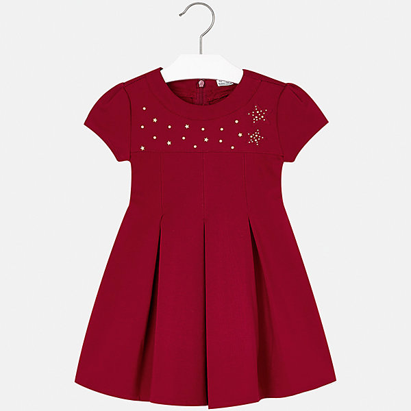 Платье для девочки MayoralОсенне-зимние платья и сарафаны<br>Характеристики товара:<br><br>• цвет: красный<br>• состав ткани: 65% вискоза, 30% полиамид, 5% эластан<br>• сезон: круглый год<br>• особенности модели: нарядная<br>• короткие рукава<br>• застежка: молния<br>• страна бренда: Испания<br>• страна изготовитель: Китай<br><br>Нарядное модное платье отличается крупными складками на подоле и интересным декором. Детское платье от бренда Майорал поможет девочке выглядеть женственно и стильно. <br><br>В одежде от испанской компании Майорал ребенок будет выглядеть модно, а чувствовать себя - комфортно. Целая команда европейских талантливых дизайнеров работает над созданием стильных и оригинальных моделей одежды.<br><br>Платье для девочки Mayoral (Майорал) можно купить в нашем интернет-магазине.<br><br>Ширина мм: 236<br>Глубина мм: 16<br>Высота мм: 184<br>Вес г: 177<br>Цвет: красный<br>Возраст от месяцев: 24<br>Возраст до месяцев: 36<br>Пол: Женский<br>Возраст: Детский<br>Размер: 98,134,128,122,116,110,104<br>SKU: 6923208