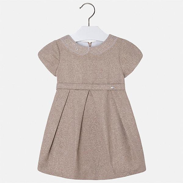 Платье Mayoral для девочкиОдежда<br>Характеристики товара:<br><br>• цвет: коричневый<br>• состав ткани: 65% вискоза, 30% полиамид, 5% эластан<br>• сезон: круглый год<br>• особенности модели: нарядная<br>• короткие рукава<br>• стразы<br>• застежка: молния<br>• страна бренда: Испания<br>• страна изготовитель: Индия<br><br>Это платье отличается отделкой стразами и модным приталенным силуэтом. Детское платье от бренда Майорал поможет девочке выглядеть женственно и стильно. <br><br>Детская одежда от испанской компании Mayoral отличаются оригинальным и всегда стильным дизайном. Качество продукции неизменно очень высокое.<br><br>Платье для девочки Mayoral (Майорал) можно купить в нашем интернет-магазине.<br><br>Ширина мм: 236<br>Глубина мм: 16<br>Высота мм: 184<br>Вес г: 177<br>Цвет: коричневый<br>Возраст от месяцев: 96<br>Возраст до месяцев: 108<br>Пол: Женский<br>Возраст: Детский<br>Размер: 134,98,104,110,116,122,128<br>SKU: 6923224