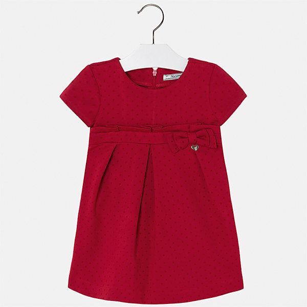 Платье для девочки MayoralПлатья и сарафаны<br>Характеристики товара:<br><br>• цвет: красный<br>• состав ткани: 69% вискоза, 25% полиамид, 5% эластан, 1% полиэстер<br>• сезон: круглый год<br>• короткие рукава<br>• застежка: молния<br>• страна бренда: Испания<br>• страна изготовитель: Индия<br><br>Красное платье отличается крупными складками на подоле и интересным декором. Детское платье от бренда Майорал поможет девочке выглядеть женственно и стильно. <br><br>В одежде от испанской компании Майорал ребенок будет выглядеть модно, а чувствовать себя - комфортно. Целая команда европейских талантливых дизайнеров работает над созданием стильных и оригинальных моделей одежды.<br><br>Платье для девочки Mayoral (Майорал) можно купить в нашем интернет-магазине.<br><br>Ширина мм: 236<br>Глубина мм: 16<br>Высота мм: 184<br>Вес г: 177<br>Цвет: красный<br>Возраст от месяцев: 18<br>Возраст до месяцев: 24<br>Пол: Женский<br>Возраст: Детский<br>Размер: 92,134,128,122,116,110,104,98<br>SKU: 6923282