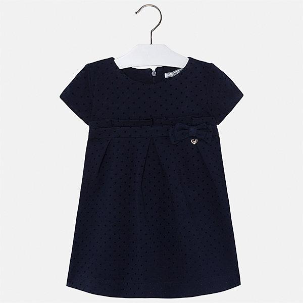 Платье для девочки MayoralПлатья и сарафаны<br>Характеристики товара:<br><br>• цвет: черный<br>• состав ткани: 69% вискоза, 25% полиамид, 5% эластан, 1% полиэстер<br>• сезон: круглый год<br>• короткие рукава<br>• застежка: молния<br>• страна бренда: Испания<br>• страна изготовитель: Индия<br><br>Оригинальное детское платье от бренда Майорал поможет девочке выглядеть красиво и чувствовать себя комфортно. Такое детское платье отличается интересным фасоном и отделкой. <br><br>Для производства детской одежды популярный бренд Mayoral использует только качественную фурнитуру и материалы. Оригинальные и модные вещи от Майорал неизменно привлекают внимание и нравятся детям.<br><br>Платье для девочки Mayoral (Майорал) можно купить в нашем интернет-магазине.<br>Ширина мм: 236; Глубина мм: 16; Высота мм: 184; Вес г: 177; Цвет: темно-синий; Возраст от месяцев: 18; Возраст до месяцев: 24; Пол: Женский; Возраст: Детский; Размер: 92,134,128,122,116,110,104,98; SKU: 6923291;