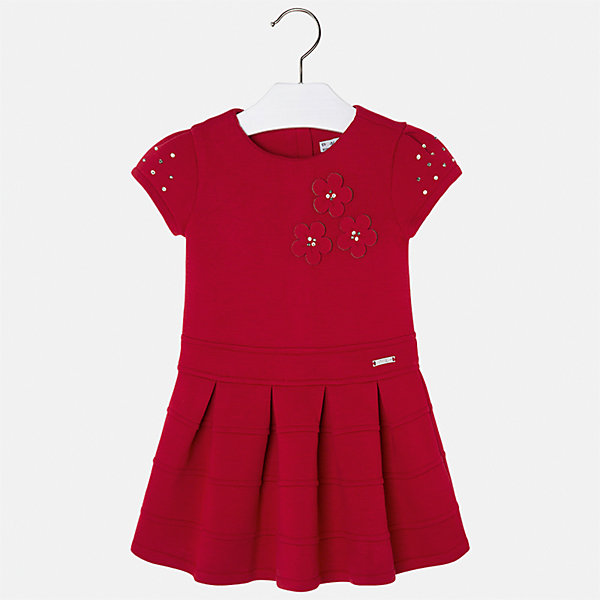 Платье Mayoral для девочкиОсенне-зимние платья и сарафаны<br>Характеристики товара:<br><br>• цвет: красный<br>• состав ткани: 61% полиэстер, 34% вискоза, 5% эластан, подкладка - 68% полиэстер, 27% вискоза, 5% эластан<br>• сезон: круглый год<br>• короткие рукава<br>• стразы<br>• застежка: молния<br>• страна бренда: Испания<br>• страна изготовитель: Индия<br><br>Красивое платье для девочки из комбинированного материала отличается модным силуэтом с высокой талией. Детское платье от бренда Майорал поможет девочке выглядеть женственно и стильно. <br><br>Детская одежда от испанской компании Mayoral отличаются оригинальным и всегда стильным дизайном. Качество продукции неизменно очень высокое.<br><br>Платье для девочки Mayoral (Майорал) можно купить в нашем интернет-магазине.<br>Ширина мм: 236; Глубина мм: 16; Высота мм: 184; Вес г: 177; Цвет: красный; Возраст от месяцев: 84; Возраст до месяцев: 96; Пол: Женский; Возраст: Детский; Размер: 128,134,98,104,110,116,122; SKU: 6923300;