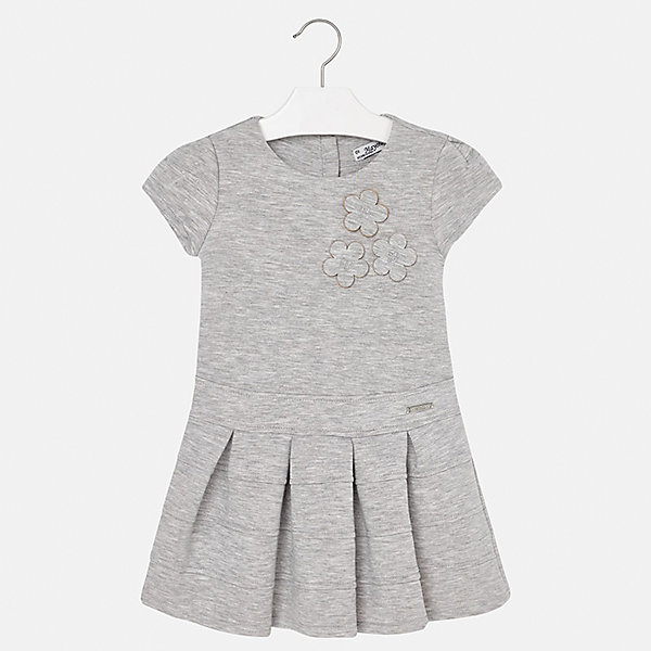Платье для девочки MayoralПлатья и сарафаны<br>Характеристики товара:<br><br>• цвет: серый<br>• состав ткани: 61% полиэстер, 34% вискоза, 5% эластан, подкладка - 68% полиэстер, 27% вискоза, 5% эластан<br>• сезон: круглый год<br>• короткие рукава<br>• стразы<br>• застежка: молния<br>• страна бренда: Испания<br>• страна изготовитель: Индия<br><br>Симпатичное платье отличается крупными складками на подоле и интересным декором. Детское платье от бренда Майорал поможет девочке выглядеть женственно и стильно. <br><br>В одежде от испанской компании Майорал ребенок будет выглядеть модно, а чувствовать себя - комфортно. Целая команда европейских талантливых дизайнеров работает над созданием стильных и оригинальных моделей одежды.<br><br>Платье для девочки Mayoral (Майорал) можно купить в нашем интернет-магазине.<br>Ширина мм: 236; Глубина мм: 16; Высота мм: 184; Вес г: 177; Цвет: серый; Возраст от месяцев: 60; Возраст до месяцев: 72; Пол: Женский; Возраст: Детский; Размер: 116,110,104,98,134,128,122; SKU: 6923308;