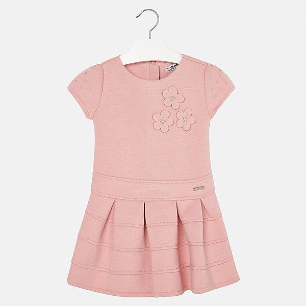 Платье для девочки MayoralОсенне-зимние платья и сарафаны<br>Характеристики товара:<br><br>• цвет: розовый<br>• состав ткани: 61% полиэстер, 34% вискоза, 5% эластан, подкладка - 68% полиэстер, 27% вискоза, 5% эластан<br>• сезон: круглый год<br>• короткие рукава<br>• стразы<br>• застежка: молния<br>• страна бренда: Испания<br>• страна изготовитель: Индия<br><br>Розовое детское платье от бренда Майорал поможет девочке выглядеть красиво и чувствовать себя комфортно. Такое детское платье отличается интересным фасоном и отделкой. <br><br>Для производства детской одежды популярный бренд Mayoral использует только качественную фурнитуру и материалы. Оригинальные и модные вещи от Майорал неизменно привлекают внимание и нравятся детям.<br><br>Платье для девочки Mayoral (Майорал) можно купить в нашем интернет-магазине.<br><br>Ширина мм: 236<br>Глубина мм: 16<br>Высота мм: 184<br>Вес г: 177<br>Цвет: розовый<br>Возраст от месяцев: 24<br>Возраст до месяцев: 36<br>Пол: Женский<br>Возраст: Детский<br>Размер: 134,98,128,122,116,110,104<br>SKU: 6923316