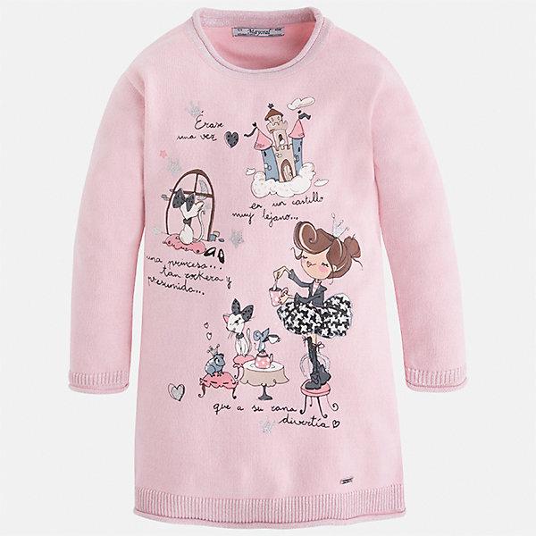 Платье Mayoral для девочкиПлатья и сарафаны<br>Характеристики товара:<br><br>• цвет: розовый<br>• состав ткани: 55% хлопок, 45% акрил<br>• сезон: круглый год<br>• длинные рукава<br>• прямой силуэт<br>• страна бренда: Испания<br>• страна изготовитель: Индия<br><br>Это розовое платье сшито из материала с преобладанием натурального хлопка в составе. Детское платье от бренда Майорал поможет девочке выглядеть женственно и стильно. <br><br>В одежде от испанской компании Майорал ребенок будет выглядеть модно, а чувствовать себя - комфортно. Целая команда европейских талантливых дизайнеров работает над созданием стильных и оригинальных моделей одежды.<br><br>Платье для девочки Mayoral (Майорал) можно купить в нашем интернет-магазине.<br><br>Ширина мм: 236<br>Глубина мм: 16<br>Высота мм: 184<br>Вес г: 177<br>Цвет: розовый<br>Возраст от месяцев: 96<br>Возраст до месяцев: 108<br>Пол: Женский<br>Возраст: Детский<br>Размер: 128,92,98,104,110,116,122,134<br>SKU: 6923356