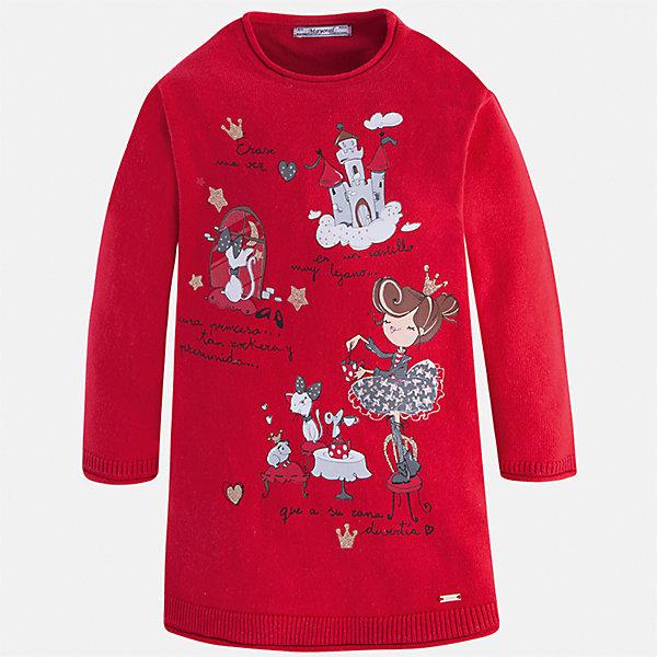 Платье Mayoral для девочкиПлатья и сарафаны<br>Характеристики товара:<br><br>• цвет: красный<br>• состав ткани: 55% хлопок, 45% акрил<br>• сезон: круглый год<br>• длинные рукава<br>• прямой силуэт<br>• страна бренда: Испания<br>• страна изготовитель: Индия<br><br>Красное трикотажное детское платье от бренда Майорал поможет девочке выглядеть красиво и чувствовать себя комфортно. Такое детское платье отличается интересным фасоном и отделкой. <br><br>Для производства детской одежды популярный бренд Mayoral использует только качественную фурнитуру и материалы. Оригинальные и модные вещи от Майорал неизменно привлекают внимание и нравятся детям.<br><br>Платье для девочки Mayoral (Майорал) можно купить в нашем интернет-магазине.<br>Ширина мм: 236; Глубина мм: 16; Высота мм: 184; Вес г: 177; Цвет: красный; Возраст от месяцев: 96; Возраст до месяцев: 108; Пол: Женский; Возраст: Детский; Размер: 134,92,128,122,116,110,104,98; SKU: 6923365;