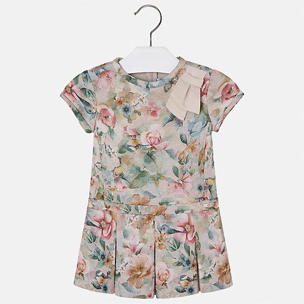 Платье Mayoral для девочкиОдежда<br>Характеристики товара:<br><br>• цвет: коричневый<br>• состав ткани: 85% хлопок, 15% полиэстер<br>• сезон: круглый год<br>• короткие рукава<br>• застежка: молния<br>• страна бренда: Испания<br>• страна изготовитель: Индия<br><br>Стильное детское платье от бренда Майорал поможет девочке выглядеть красиво и чувствовать себя комфортно. Такое детское платье отличается интересным фасоном и отделкой. <br><br>Для производства детской одежды популярный бренд Mayoral использует только качественную фурнитуру и материалы. Оригинальные и модные вещи от Майорал неизменно привлекают внимание и нравятся детям.<br><br>Платье для девочки Mayoral (Майорал) можно купить в нашем интернет-магазине.<br><br>Ширина мм: 236<br>Глубина мм: 16<br>Высота мм: 184<br>Вес г: 177<br>Цвет: бежевый<br>Возраст от месяцев: 18<br>Возраст до месяцев: 24<br>Пол: Женский<br>Возраст: Детский<br>Размер: 92,134,128,122,116,110,104,98<br>SKU: 6923392