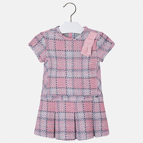 Платье Mayoral для девочкиПлатья и сарафаны<br>Характеристики товара:<br><br>• цвет: розовый<br>• состав ткани: 85% хлопок, 15% полиэстер<br>• сезон: круглый год<br>• короткие рукава<br>• застежка: молния<br>• страна бренда: Испания<br>• страна изготовитель: Индия<br><br><br>Качественная детская одежда от Mayoral поможет детям выглядеть красиво. Это платье для девочки из комбинированного материала отличается модным силуэтом с высокой талией. Детское платье от бренда Майорал поможет девочке выглядеть женственно и стильно. <br><br>Детская одежда от испанской компании Mayoral отличаются оригинальным и всегда стильным дизайном. Качество продукции неизменно очень высокое.<br><br>Платье для девочки Mayoral (Майорал) можно купить в нашем интернет-магазине.<br><br>Ширина мм: 236<br>Глубина мм: 16<br>Высота мм: 184<br>Вес г: 177<br>Цвет: розовый<br>Возраст от месяцев: 18<br>Возраст до месяцев: 24<br>Пол: Женский<br>Возраст: Детский<br>Размер: 92,134,128,122,116,110,104,98<br>SKU: 6923401