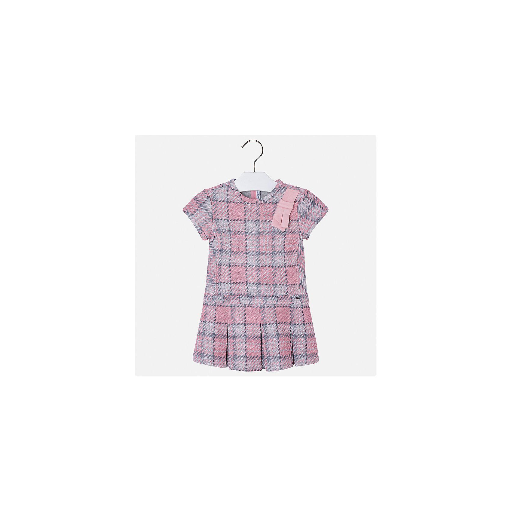 Платье Mayoral для девочкиОсенне-зимние платья и сарафаны<br>Характеристики товара:<br><br>• цвет: розовый<br>• состав ткани: 85% хлопок, 15% полиэстер<br>• сезон: круглый год<br>• короткие рукава<br>• застежка: молния<br>• страна бренда: Испания<br>• страна изготовитель: Индия<br><br><br>Качественная детская одежда от Mayoral поможет детям выглядеть красиво. Это платье для девочки из комбинированного материала отличается модным силуэтом с высокой талией. Детское платье от бренда Майорал поможет девочке выглядеть женственно и стильно. <br><br>Детская одежда от испанской компании Mayoral отличаются оригинальным и всегда стильным дизайном. Качество продукции неизменно очень высокое.<br><br>Платье для девочки Mayoral (Майорал) можно купить в нашем интернет-магазине.<br><br>Ширина мм: 236<br>Глубина мм: 16<br>Высота мм: 184<br>Вес г: 177<br>Цвет: розовый<br>Возраст от месяцев: 18<br>Возраст до месяцев: 24<br>Пол: Женский<br>Возраст: Детский<br>Размер: 92,98,104,110,116,122,128,134<br>SKU: 6923401