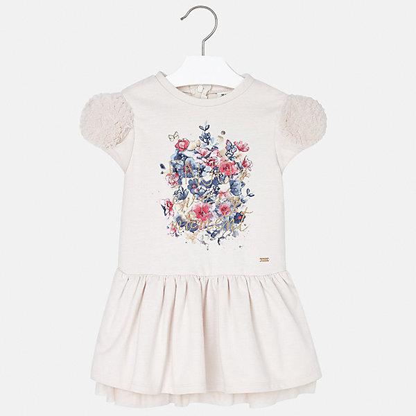Платье для девочки MayoralПлатья и сарафаны<br>Характеристики товара:<br><br>• цвет: бежевый<br>• состав ткани: 70% полиэстер, 30% хлопок<br>• сезон: круглый год<br>• короткие рукава<br>• стразы<br>• застежка: молния<br>• страна бренда: Испания<br>• страна изготовитель: Индия<br><br>Детское платье от бренда Майорал поможет девочке выглядеть женственно и стильно. Это оригинальное платье декорировано принтом и стразами. <br><br>В одежде от испанской компании Майорал ребенок будет выглядеть модно, а чувствовать себя - комфортно. Целая команда европейских талантливых дизайнеров работает над созданием стильных и оригинальных моделей одежды.<br><br>Платье для девочки Mayoral (Майорал) можно купить в нашем интернет-магазине.<br>Ширина мм: 236; Глубина мм: 16; Высота мм: 184; Вес г: 177; Цвет: бежевый; Возраст от месяцев: 24; Возраст до месяцев: 36; Пол: Женский; Возраст: Детский; Размер: 98,128,134,122,116,110,104; SKU: 6923458;